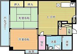 サンシャイン石田 (高齢者向け優良賃貸住宅)[307号室]の間取り