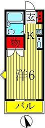 ジュネスパピヨン[2階]の間取り