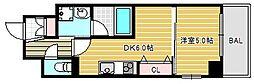ブラービ南堀江[4階]の間取り