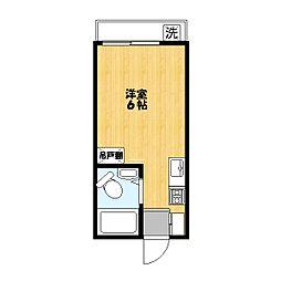 平田コーポ[202号室]の間取り