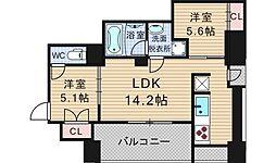 ZENII[5階]の間取り