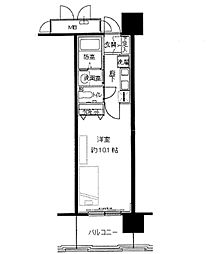 レジディア三宮東[0902号室]の間取り