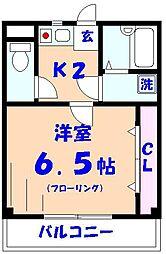 プラスワン18ビル[2階]の間取り