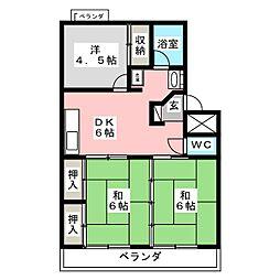 フォーシーズン連坊[4階]の間取り