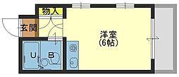 兵庫県芦屋市上宮川町の賃貸マンションの間取り