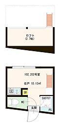 (仮称)高松(2)丁目コーポ[2階]の間取り