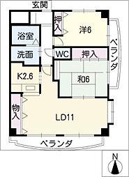 LX21[3階]の間取り