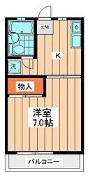 ペルレシュロスPart VI[2階]の間取り