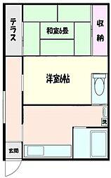 [一戸建] 神奈川県横浜市神奈川区鳥越 の賃貸【/】の間取り