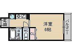 スチューデントパレス茨木[3階]の間取り