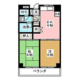 旭レジデンス[2階]の間取り