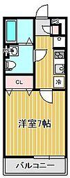 神奈川県川崎市高津区新作4丁目の賃貸アパートの間取り