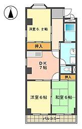 エスポワール梅森台[3階]の間取り