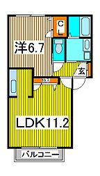 ウィン中浦和II[2階]の間取り