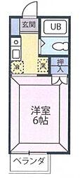 クロノス霞ヶ関[203号室]の間取り