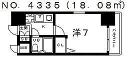 エスリード天王寺[4階]の間取り