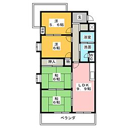 メゾンアモール[4階]の間取り