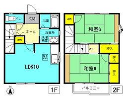 [テラスハウス] 神奈川県平塚市御殿1丁目 の賃貸【/】の間取り