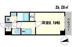 ワールドアイ大阪緑地公園[3階]の間取り
