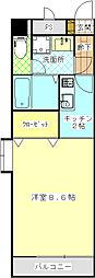 AYマンション[206号室]の間取り