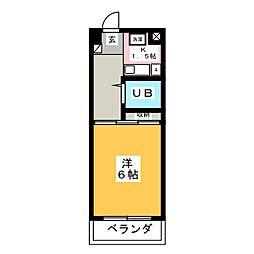 エステートみちづかB棟[3階]の間取り