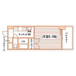 松井ビル[601号室]の間取り