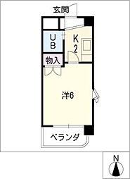 第5塚本ハイツ[4階]の間取り