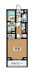 京王井の頭線 駒場東大前駅 徒歩4分の賃貸マンション 1階1Kの間取り