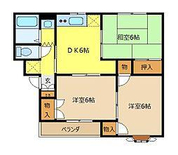 パレドール神谷[3階]の間取り