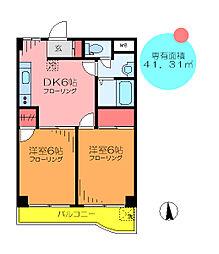 東京都葛飾区堀切6丁目の賃貸マンションの間取り