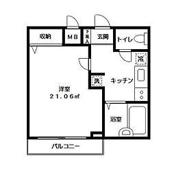 ドルチェ東京光が丘[1階号室]の間取り