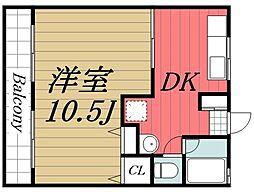 千葉県千葉市若葉区都賀3丁目の賃貸マンションの間取り