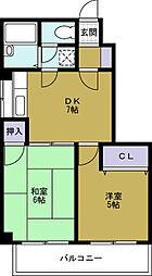 ハイネス岡崎2[6階]の間取り