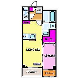 カーサフレンテ長江[2階]の間取り