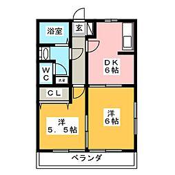 渚B[1階]の間取り