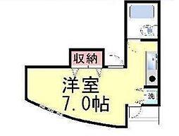 キューブ東武庫之荘I[201号室]の間取り