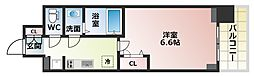 Osaka Metro谷町線 四天王寺前夕陽ヶ丘駅 徒歩6分の賃貸マンション 9階1Kの間取り