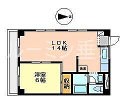 兵庫県神戸市垂水区本多聞3の賃貸マンションの間取り