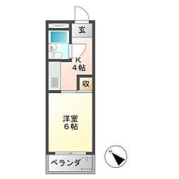 ハイツ岩崎[1階]の間取り