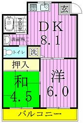 キャッスル北松戸[502号室]の間取り