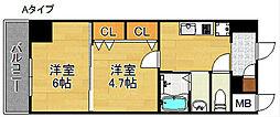 グランパシフィックパークビュー[7階]の間取り