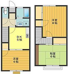 [テラスハウス] 東京都八王子市東浅川町 の賃貸【/】の間取り