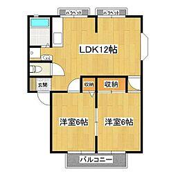 サンハイツIII[1階]の間取り
