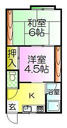 川口荘[2階]の間取り