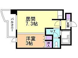 札幌ビオス館 5階1DKの間取り