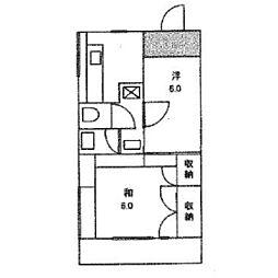 山内アパートD[1階]の間取り