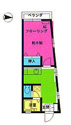 コーポ昭栄[208号室]の間取り