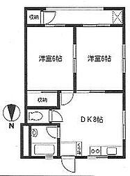 椿マンション[1階]の間取り