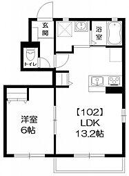 五香IハイツB棟・1LDK[102号室号室]の間取り