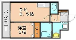 ディモーラ博多[3階]の間取り